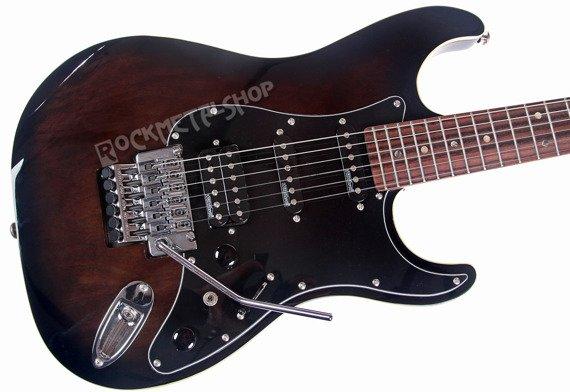gitara elektryczna J&D BROTHERS Transparent Black ST3AF BKS