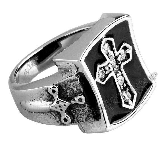 pierścień SIGNET CROSS