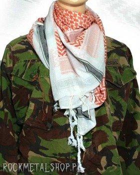 Arafatka biało-czarno-brązowa