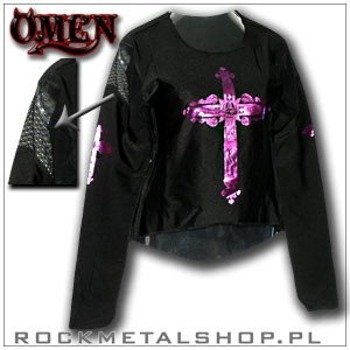 BLUZKA damska LYCRA WITH VIOLET CROSS firma OMEN (805)