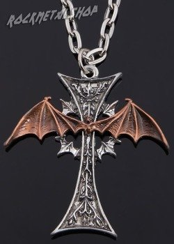Wisior VAMPIRE WINGED BAT CROSS
