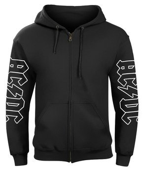 bluza AC/DC - BLACK ICE rozpinana, z kapturem