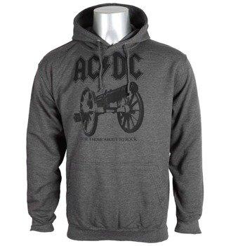 bluza AC/DC - FOR THOSE ABOUT TO ROCK, kangurka z kapturem