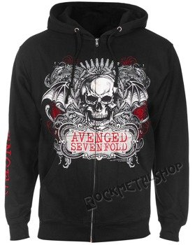 bluza AVENGED SEVENFOLD - ORNATE, rozpinana z kapturem