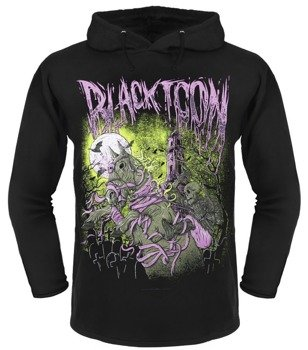 bluza BLACK ICON - HORSERIDER czarna z kapturem (BICON079 BLACK)