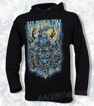 bluza BLACK ICON - WOLF SELL czarna z kapturem (BICON020)