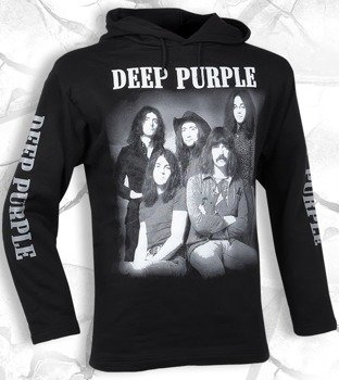 bluza DEEP PURPLE - BAND czarna, z kapturem