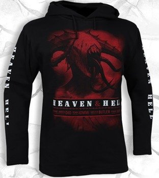 bluza HEAVEN & HELL czarna, z kapturem