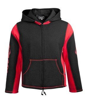 bluza HEXAGON - TRIBAL BLACK & RED rozpinana, z kapturem