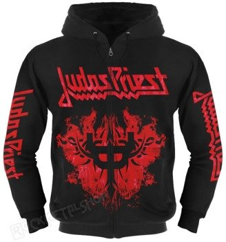 bluza JUDAS PRIEST - REVOLUTION rozpinana, z kapturem