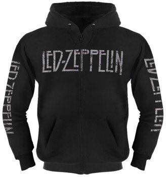 bluza LED ZEPPELIN - MOTHERSHIP czarna, rozpinana z kapturem
