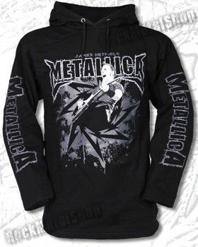 bluza METALLICA - JAMES HETFIELD czarna, z kapturem