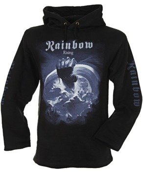 bluza RAINBOW - RISING czarna, z kapturem