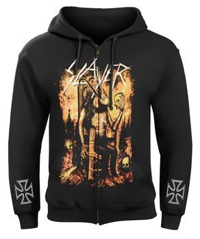 bluza SLAYER - BORN OF FIRE rozpinana, z kapturem
