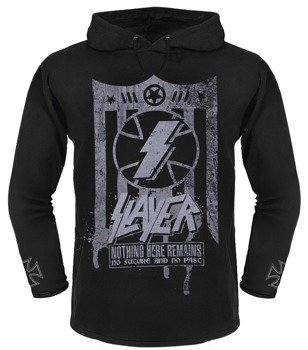 bluza SLAYER - NOTHING HERE REMAINS... czarna, z kapturem