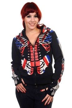 bluza damska BANNED - UNION JACK SKELETON