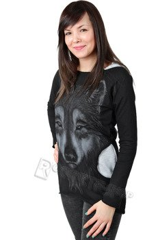 bluza damska WOLF, z kapturem