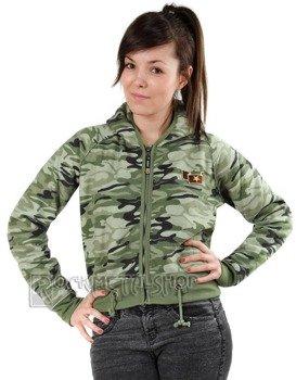 bluza damska na suwak MORO GREEN