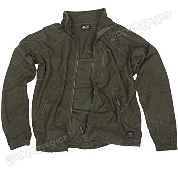 bluza polar ALPHA GRID FLEECE JACKET OLIVE