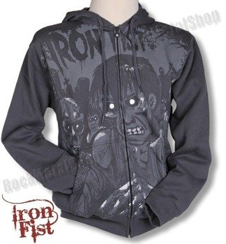 bluza rozpinana IRON FIST - UNHOLY LIVING DEAD (CHARCOAL OVERDYE)