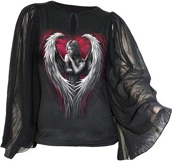 bluzka damska ANGEL HEART długi rękaw