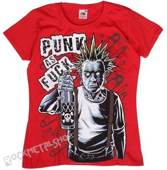 bluzka damska BLACK ICON - OLD PUNK (DICON027 RED)
