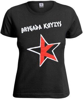 bluzka damska BRYGADA KRYZYS - LOGO biało-czerwona