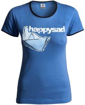 bluzka damska HAPPYSAD - MÓW MI DOBRZE niebieska