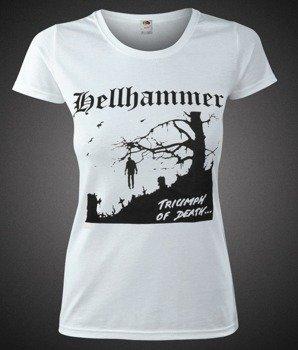 bluzka damska HELLHAMMER - TRIUMPH OF DEATH biała