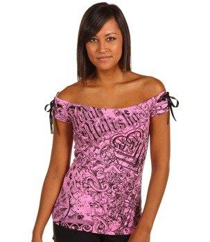 bluzka damska METAL MULISHA - KYRA różowa