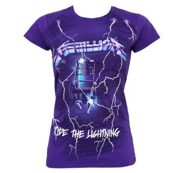 bluzka damska METALLICA - PURPLE LIGHTNING