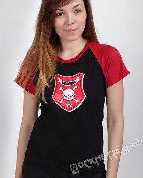 bluzka damska PRAWDA - 77 czarno-czerwona