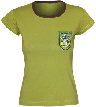 bluzka damska SEPULTURA - FOOTBALL LOGO zielona