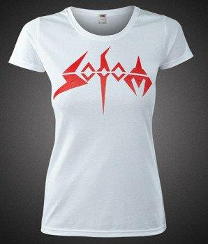 bluzka damska SODOM - RED LOGO biała