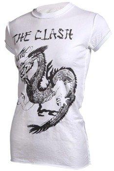 bluzka damska THE CLASH - DRAGON biała