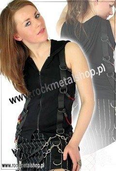 bluzka damska (bezrękawnik czarny) - SPAN HOOD COTTON (S-4-53-101-00)