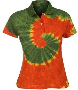 bluzka polo barwiona RASTA MIX