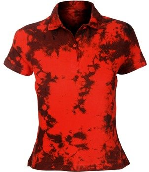 bluzka polo barwiona RED MIX - TRIBAL