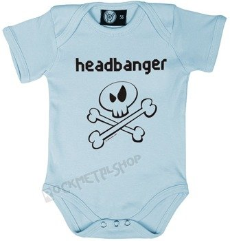body dziecięce HEADBANGER błękitne