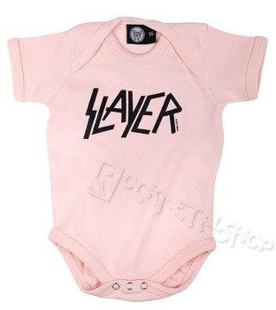 body dziecięce  SLAYER - LOGO pink
