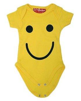 body dziecięce SMILEY żółte