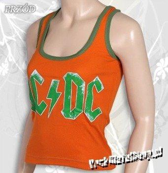 bokserka damska AC/DC - LOGO pomarańczowa