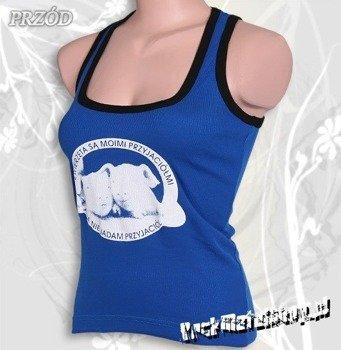 bokserka damska ZWIERZĘTA SĄ MOIMI PRZYJACIÓŁMI niebieska