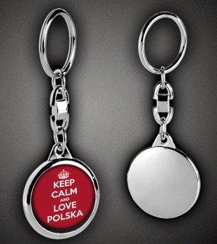 brelok KEEP CALM AND LOVE POLSKA