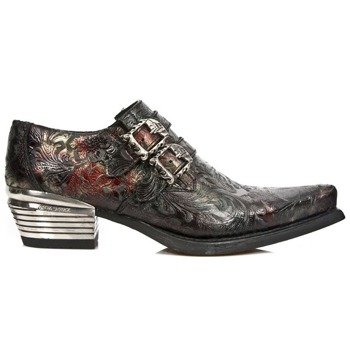 buty NEW ROCK VINTAGE-2 FLOWER ROJO, WEST NEGRO ACERO T.DALLAS [7960-S5]