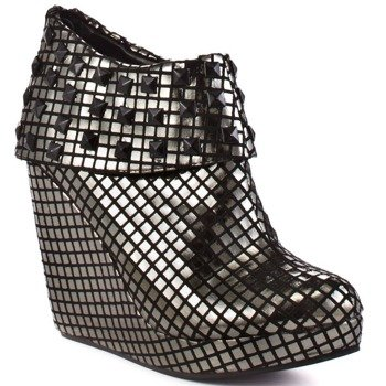 buty na koturnie IRON FIST - HEAVY METAL WEDGE (PEWTER)