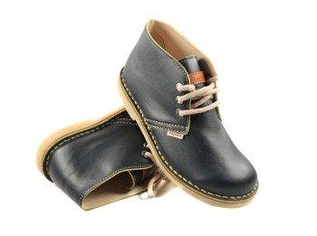 buty skórzane NAGABA - GRANAT / ŻÓŁTY BRZEG (082)