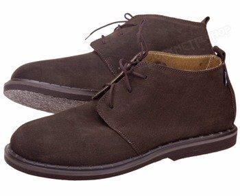 """buty zamszowe STEADY'S - """"SZCZURKI"""" brązowe (STE/133) welur"""
