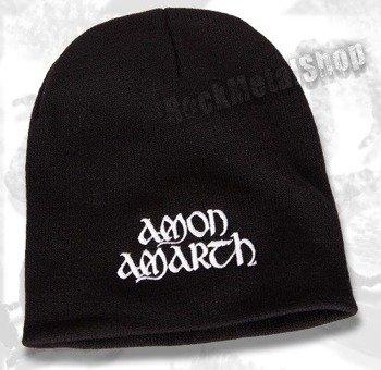 czapka AMON AMARTH - WHITE LOGO, zimowa