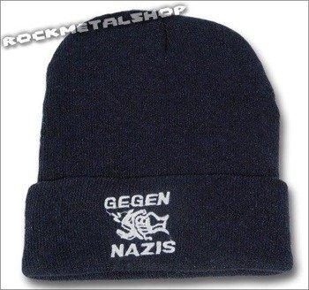 czapka GEGEN NAZIS granatowa